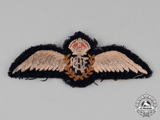 Canada. A Royal Canadian Air Force (RCAF) Pilot Wings c. 1940-1941
