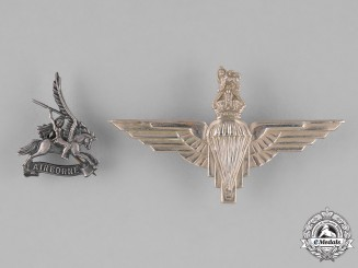 United Kingdom. Two Parachute Regiment Badges