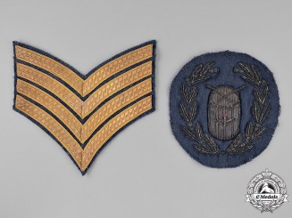 United Kingdom. Two Royal Air Force (RCAF) Drum Major's Insignia