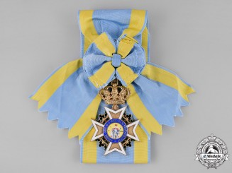 Saxony, Kingdom. A Military Order of St. Henry, Grand Cross Sash Badge, One of Six Awarded