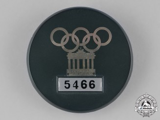 Germany. A 1936 Badge for Officials of the Olympic Village Döberitz