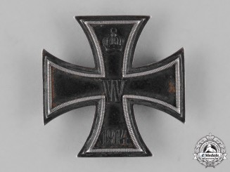 Prussia, State. An Iron Cross 1914 First Class to R. Aharmen in August 1916 in Ypres
