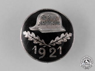 Germany, Weimar Republic. An Early 1921 Der Stahlhelm Veteran's Association Membership Badge