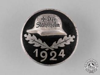 "Germany, Weimar Republic. A 1924 ""Der Stahlhelm"" Veteran's Association Membership Badge"