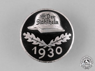 "Germany, Weimar Republic. A 1930 ""Der Stahlhelm"" Veteran's Association Membership Badge"