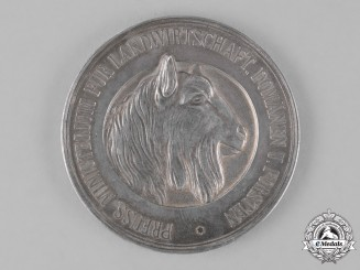 Prussia, State. A Silver Medal for Animal Breeding Awarded by the Ministry of Agriculture