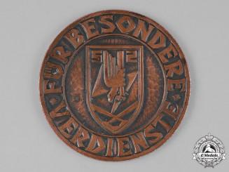 Germany. A 1941 Luftwaffe Flakscheinwerfer- Regiment 2 Merit Table Medal
