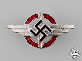 Germany, DLV. A German Air Sports Association Supporter's Badge, by Deumer of Lüdenscheid