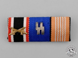 Germany. A Medal Ribbon Bar with an SS Long Service Medal Ribbon