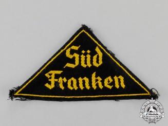 "Germany. A Mint  HJ/DJ ""Süd Franken"" District Sleeve Insignia"