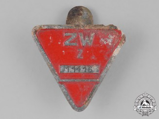 Germany. An Occupied Territories Munition Factory Worker's Lapel Badge