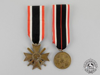 Germany. A Grouping of a War Merit Cross Second Class and War Merit Medal