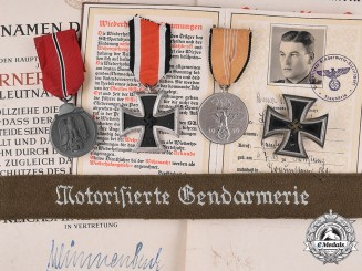 Germany. A Collection of Medals & Documents Belonging to Gendarmerie Officer Werner Bartholomeus