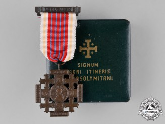 Vatican. A Medal of the Holy Land, Pilgrims Jerusalem Cross of Honour, Bronze Grade