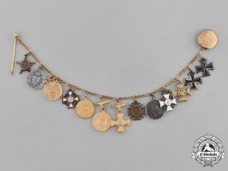 Prussia, State. An Extensive First War Period Miniature Chain Boutonniere by Godet of Berlin
