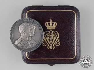 Prussia, State. A Cased King of Prussia & Augusta Victoria Jubilee Medal