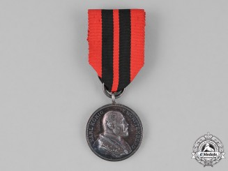Württemberg. A Silver 25-Year Jubilee Medal for the Reign of King Carl
