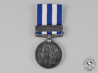 United Kingdom. An Egypt Medal 1882-1889, to Gunner T.C. Chandler, Royal Marines