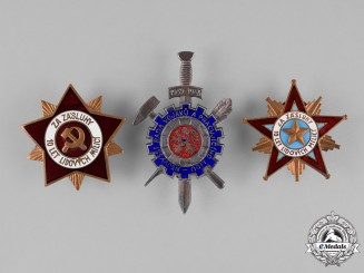 Czechoslovakia, Republic. Three Badges & Insignia