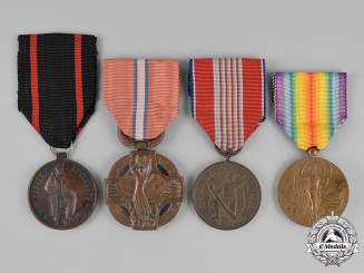 Czechoslovakia, Republic. Four Awards & Decorations