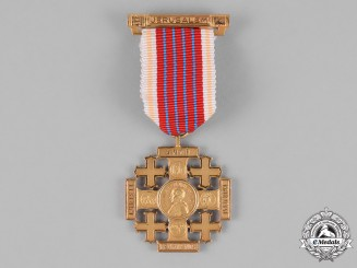 Vatican. A Medal of the Holy Land, Pilgrims Jerusalem Cross of Honour, Gold Grade
