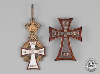 Denmark, Kingdom. An Order of Dannebrog, I Class Commander, by Anton Michelsen, c.1950