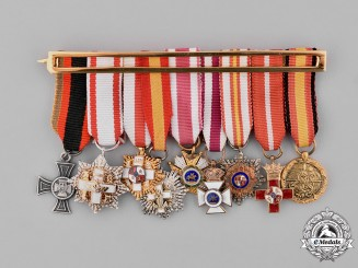 Spain, Franco Period. A Miniature Group of Nine Medals & Decorations
