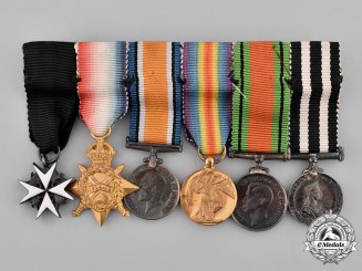 United Kingdom. A First & Second War Order of St. John Miniature Group of Six