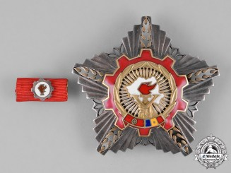 Romania, Republic. An Order of the Victory of Socialism,