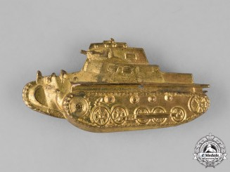 "Spain, Franco Period. A Fascist ""Panzer I"" Tanker Badge, c. 1936"