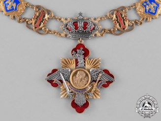 Romania, Kingdom. A Rare Collar of the Order of Carol I