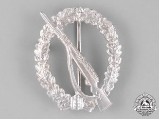 Germany. An Infantry Assault Badge, in Silver, Alternative 1957 Version