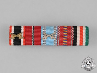 Germany. A Medal Ribbon Bar with Five Ribbons