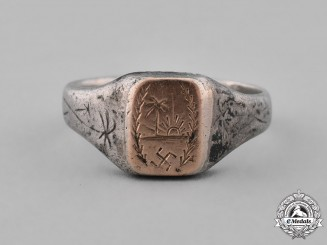 "Germany. An ""Afrika Korps"" Silver Ring"
