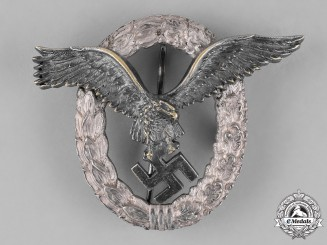 Germany, Third Reich. A Luftwaffe Pilot's Badge, by C.E. Juncker, J-2 Type