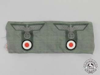 Germany. Two Wehrmacht Heer (Army) Field Cap Eagle Insignia
