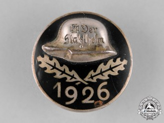 Germany, Weimar Republic. A 1926 Der Stahlhelm Veteran's Association Membership Badge