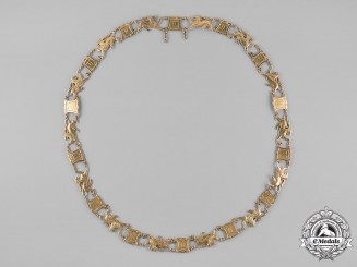 Hesse-Darmstadt. A House Order of the Golden Lion, Gold Collar, c.1925
