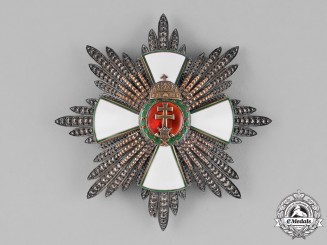 Hungary, Kingdom. An Order of Merit, Grand Cross Star with Golden Rays & Holy Crown