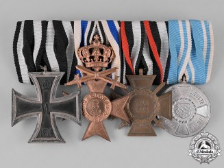 Bavaria, Kingdom. A Bavarian Medal Bar with an Iron Cross and a Merit Cross with Swords