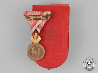 Austria, Empire. Military Merit Medal, Bronze Grade with Case