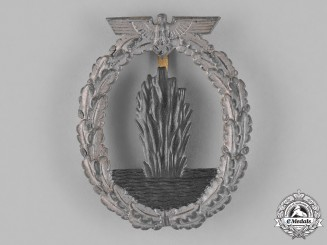 Germany, Kriegsmarine. A Minesweeper War Badge by Forester & Barth