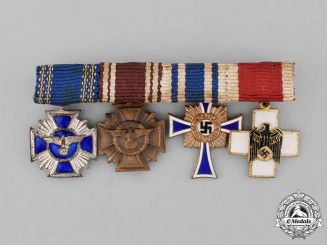 Germany. A Miniature Medal Bar of Four