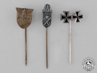 Germany. Three Miniature Stickpins