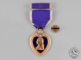 United States. A Purple Heart, to Private First Class James William Davis, United States Marine Corps