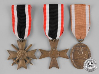 Germany. Three Medals, Awards, and Decorations