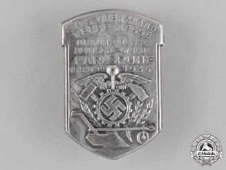 Germany. A 1934 Karlsruhe Border-Countries Boycott Fair Badge