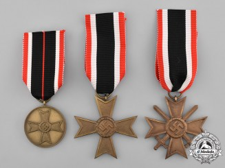Germany, Third Reich. A Set of Three War Merit Crosses and Medals