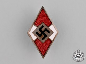Germany, Third Reich. A Hitler Youth (HJ) Membership Badge by Matthias Oeschler & Sohn, Ansbach