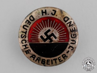 Germany. A National Socialist Worker's Youth Organization Membership Badge, by Robert Beck